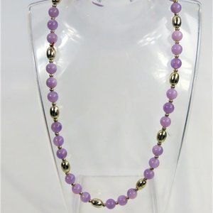 2/$20 Vintage Purple and Gold Beaded Necklace